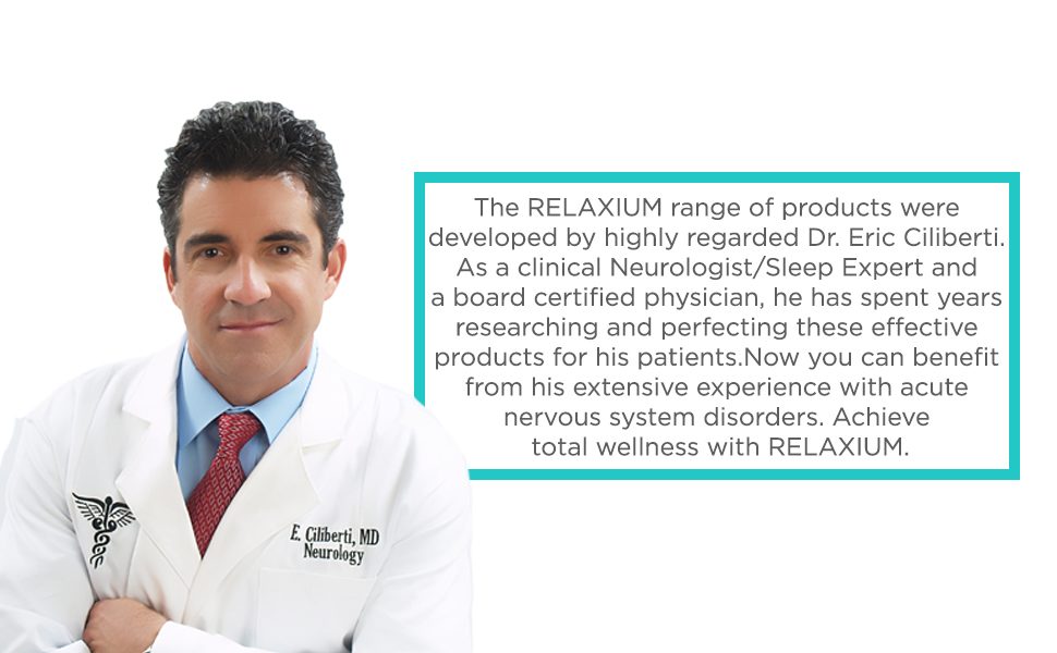 clinical and board certified neurology doctor created RELAXIUM