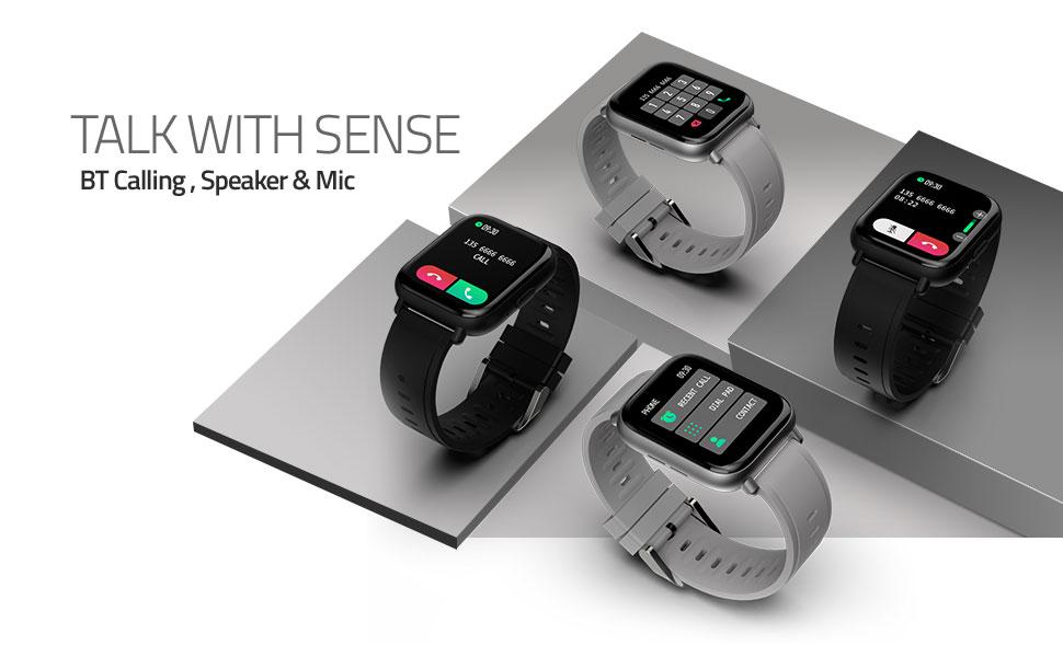 Bluetooth calling smart watch with mic, dailpad & speaker