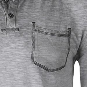 pocket henley raglan button crewneck contrast color block zimego street fashion ootd