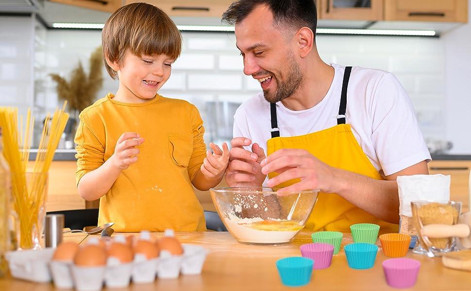 mini cupcakes silicone  cooking family fun kitchen baking