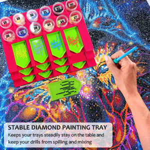 diamond painting tray organizer keeps your trays steadily stay on the table