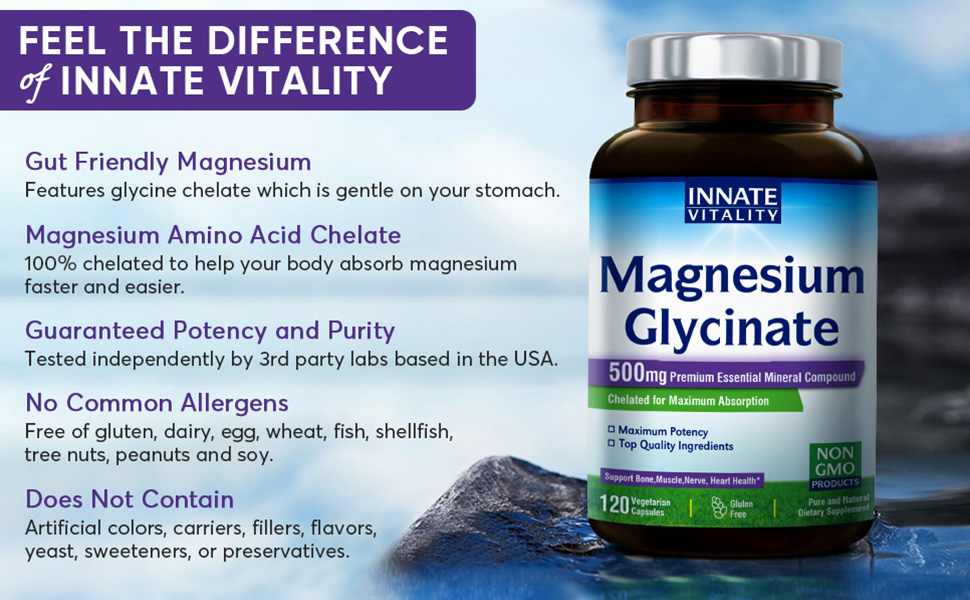 Magnesium amino acid chelate glycine gut friendly easy on stomach