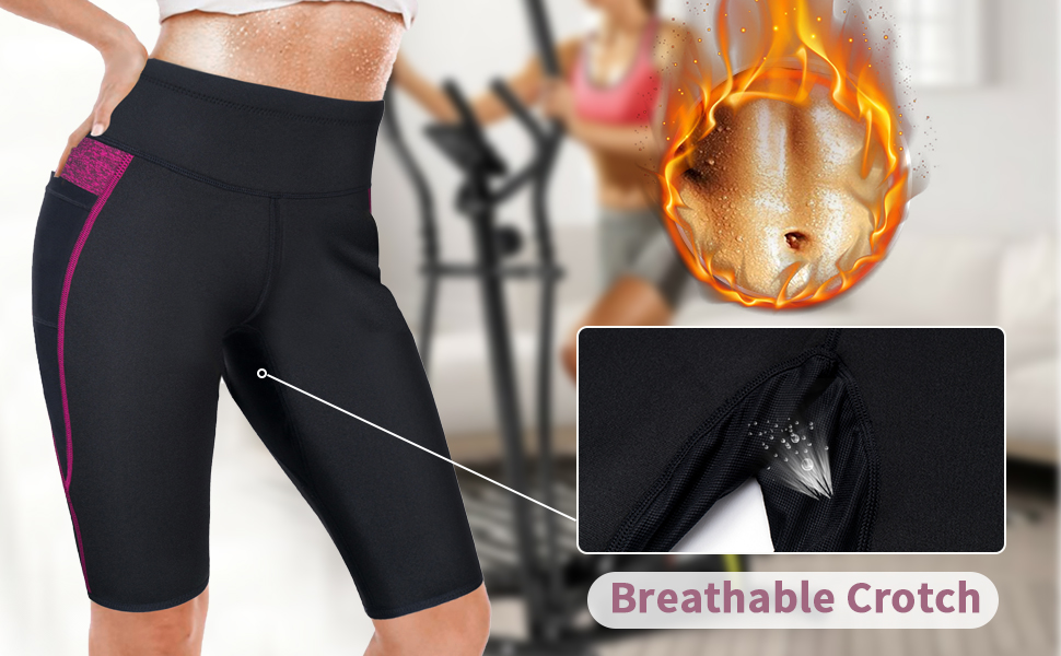 Curves Neoprene Trimming Shorts Size M Exercise All Sports Black Hiking Running Yoga