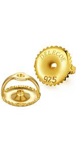 gold screw earring backs