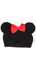 finn and emma, organic cotton baby hat, minnie mouse ears, disney character hat, baby cap