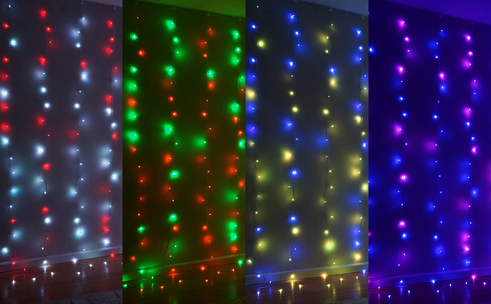 color changing curtain lights