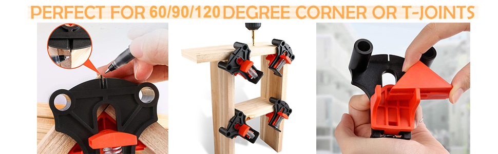 per cornici fotografiche lavorazione del legno ingegneria Set di 4 morsetti ad angolo retto impugnatura singola a 90/° Kgjsdf multifunzione