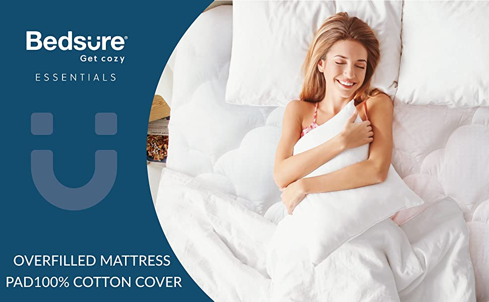Get cozy with Bedsure Overfilled Mattress Pad