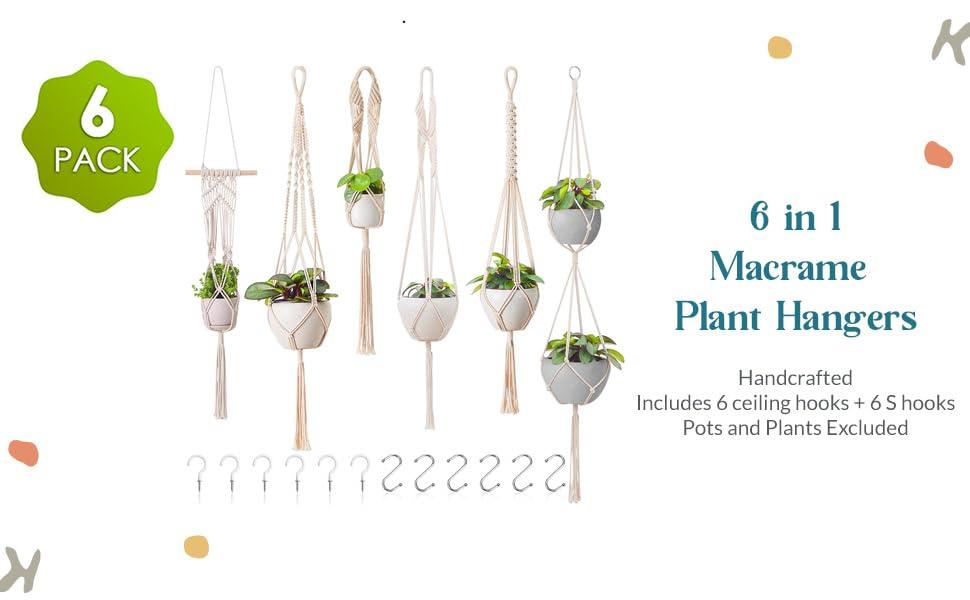 6 pack plant hangers