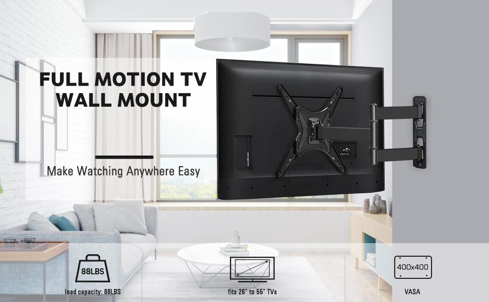 tv mount 55 inch full motion tv mount flat screen tv wall mount