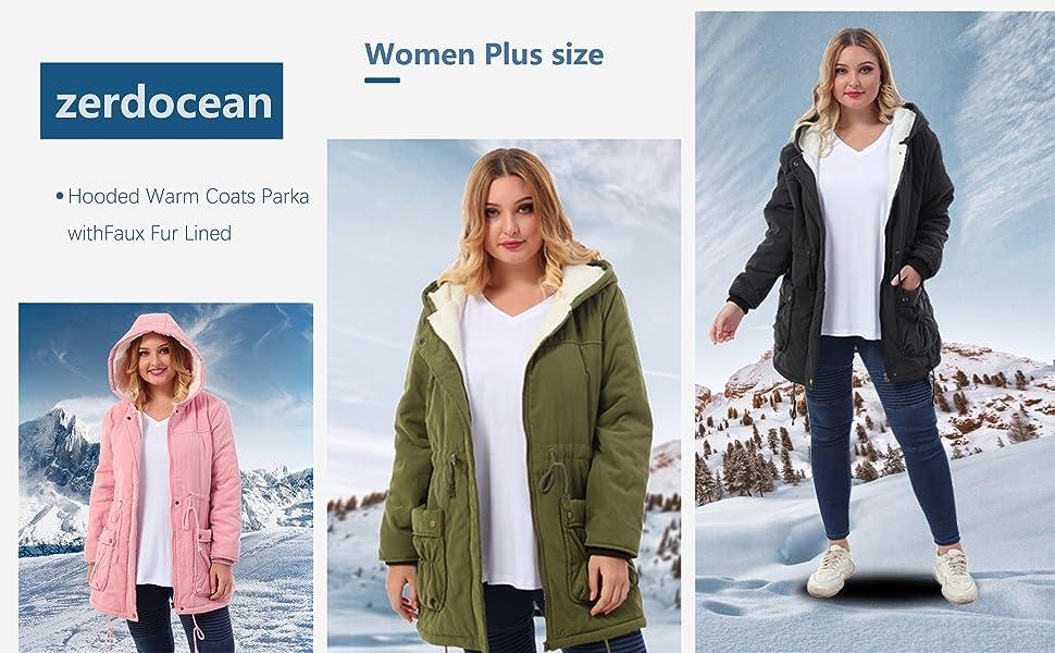 Women/'s Outwear Winter Fall Washable soft Faux Fur Coat jacket plus fits 2X 3X4X