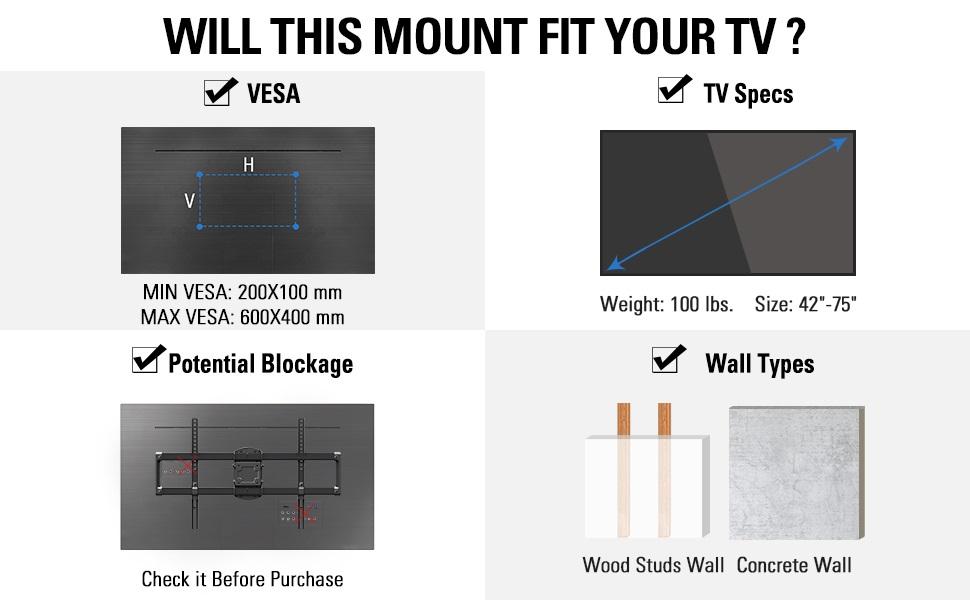 tv wall mount swivel and tilt tv mount for 55 inch tv mount 65 inch tv mount  tv wall mount 65 mount