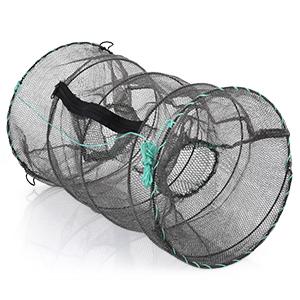 King Boutiques Neu Tragbares Klappfischernetz Baits Mesh-Trap-Durable for Shrimp Elritze Crayfish Color : 100cm