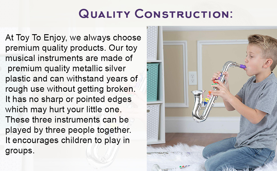 Kids trumpet is made from premium quality materials