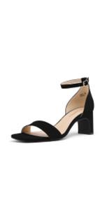 Chunky Open Toe Heel Sandals