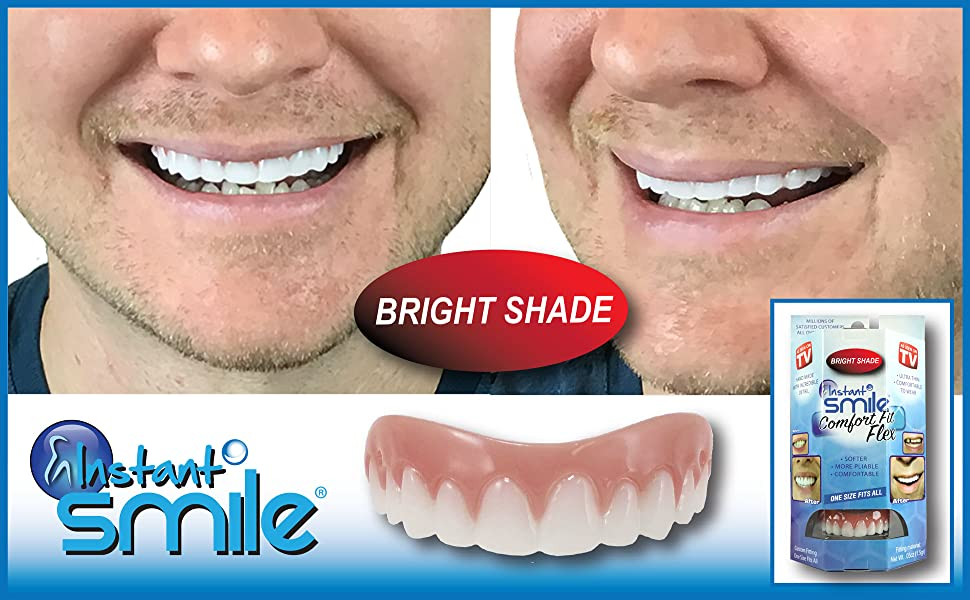 photograph about Tooth Shade Chart Printable named Billy Bob Prompt Smile Consolation Suit Flex Beauty Tooth, Brilliant White Coloration, Smooth Higher Veneer, 1 Dimensions Suits Greatest