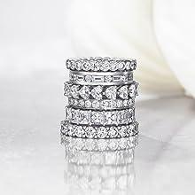 Wedding bands enhancer moissanite eternity rings