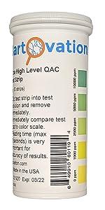 quat 10000 10k ppm test strip extra high level qac quat qt qk strip quaternary ammonia