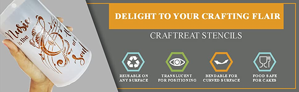 Craftreat Quotes Stencils - Quote Stencils for Painting Quotes for Walls in Home