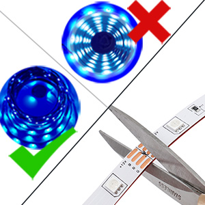 Led light strip for DIY length