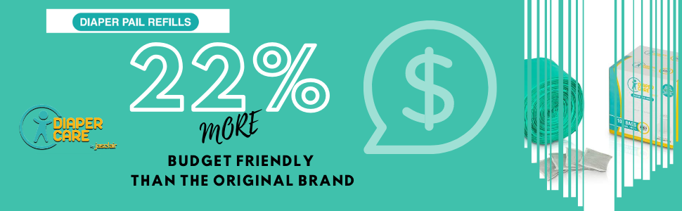 22% more budget friendly than the original ubbi brand bags