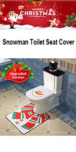 Superb Amazon Com D Fantix 4 Piece Snowman Santa Toilet Seat Cover Pabps2019 Chair Design Images Pabps2019Com