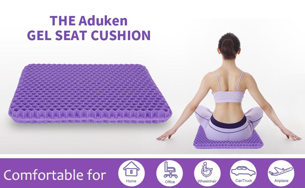 Aduken purple gel seat cushion