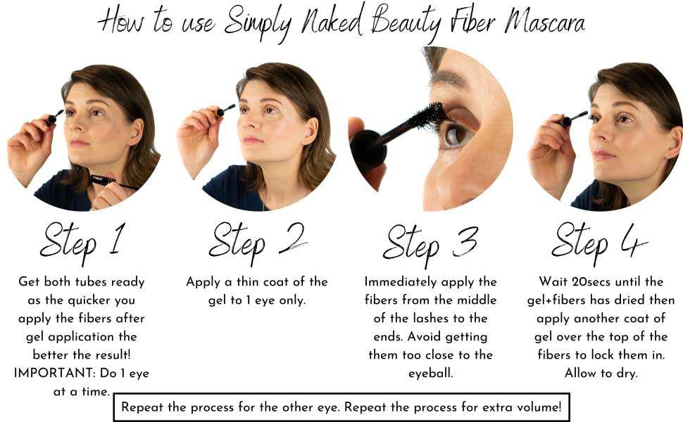 simply naked beauty fiber mascara fibre volume volumising length lengthening best better