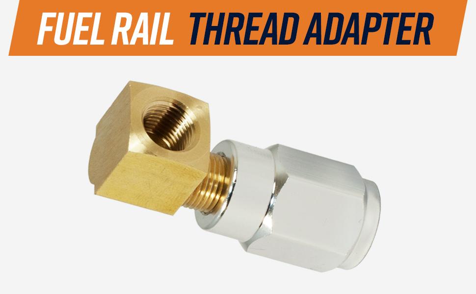 GM Fuel Rail Schrader Valve Gauge Adapter LS Series