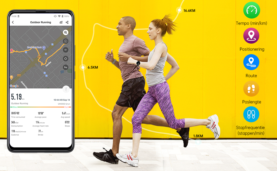 Built in GPS-track for your sport data