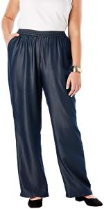 Plus Size Tencel Pants