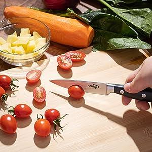 KUMA Paring Knife Razor Sharp Cuts Tomatoes And Veggies With Ease