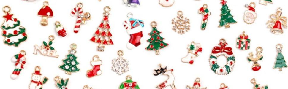 Miniature Candy Charms Assorted Dollhouse Christmas Tiny Ornaments Handmade Set Miniature Food Silver Wire Christmas Jewelry Charm 00EVEHM7