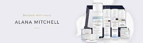 Alana Mitchell All Skin Type Set, Full Skincare Routine, Moisturizer, Cleanser, Anti-Aging, Masque