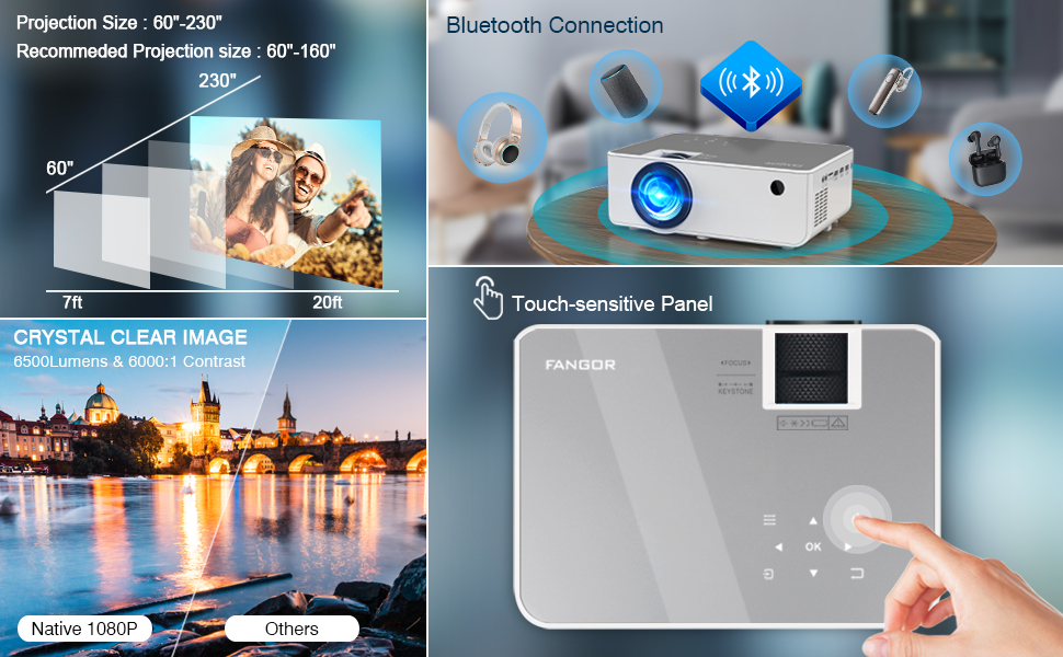 Bluetooth movie home projector