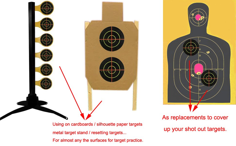 Perfect Size-You can stick on most of the surface for target practice.