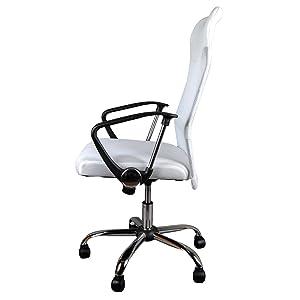 GIOSEDIO Ergonomisch BSX002 Weiß Mesh Membrane (Stoff) Sessel, Bürostuhl, Bürosessel