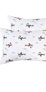 NTBAY Natural Cotton Jersey Knit Toddler Pillowcases