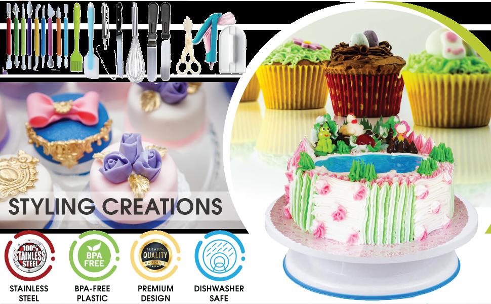 cake spatula cake decorating turntable icing bags and tips cake decorating bags baking set pastry ba