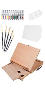23 PCS Drawer Easel Painting Set