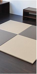 置き畳 琉球畳 畳マット ユニット畳 縁なし 和紙製 パラレル メディア