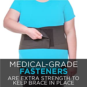 medical grade fasteners are extra strength to keep sleeping back brace in place