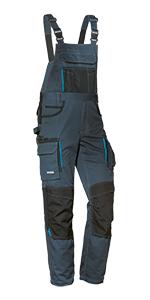 Pantaloni da uomo Salopette con elastico in vita con tasche al ginocchio