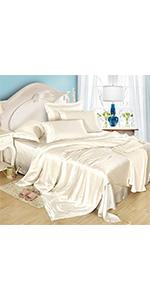 silk sheets set