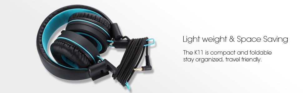 noot products k11 kids headphones black