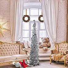slim pop up christmas tree