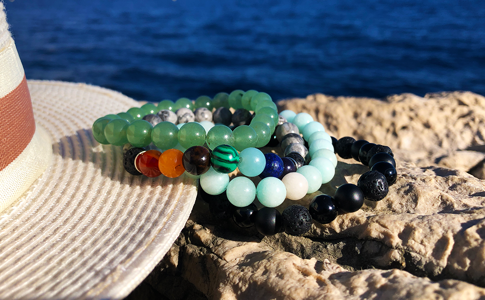 Domog, bracelets pierre naturelle, bracelet homme, bracelet femme, bracelet 7 chakras