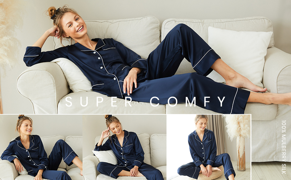 silk pajama womens