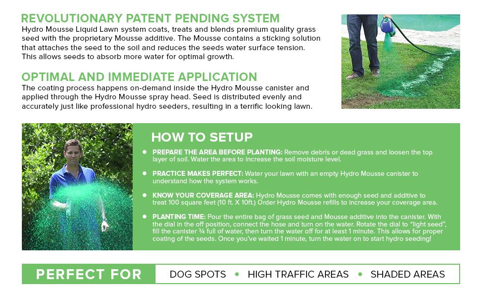 Amazon Com Hydro Mousse Liquid Lawn Refill Pack 2lb Bag