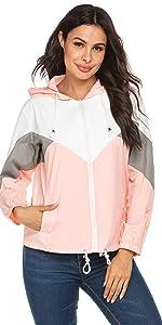 windbreakers for women rain jacket raincoat hiking jacket running jacket travel jacket